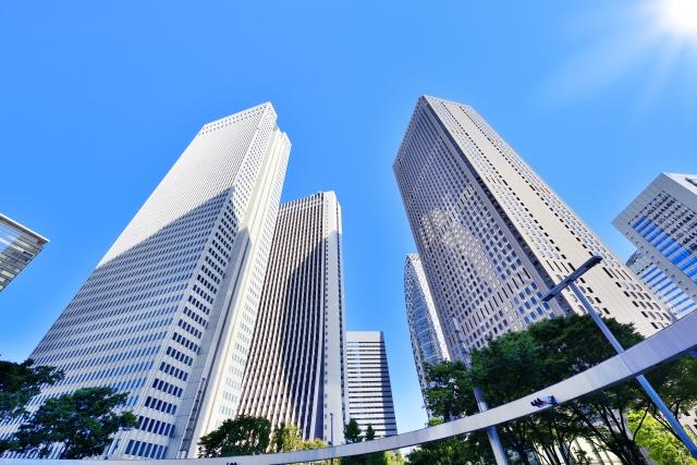 新宿副都心周辺のオフィスビル